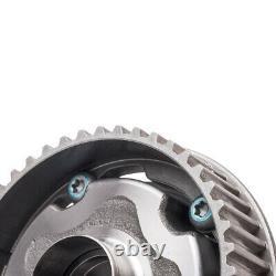 2x Camshaft Adjuster Gear Sprocket & Solenoid Kit for Vauxhall A16XER 55567049