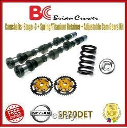 Brian Camshafts Stage 3 / Spring / Retainer / Cam Gears Kit For Nissan SR20DET