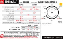 Brian Crower Bc Stage 3 Three 280 Cams Camshafts For Subaru Impreza Wrx Ej205