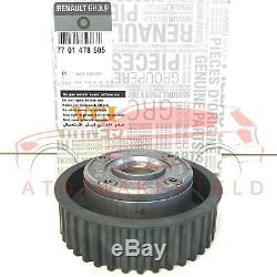 FOR RENAULT CLIO MK3 1.6 16v GT GENUINE CAM SHAFT DEPHASER PULLEY NEW 7701478505