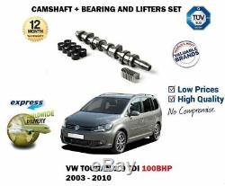 For Vw Touran 2003-2010 1.9tdi Camshaft Kit Hydraulics Lifters Cam Bearings Set