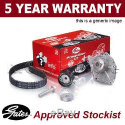 Gates Timing Cam Belt Water Pump Kit For Ford Volvo Tensioner Pulley KP45509XS