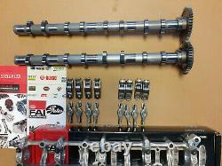 Inlet Exhaust Camshafts 16 Rocker Arms Cam Carrier Kit Bmw Mini 1.6 2.0 16v