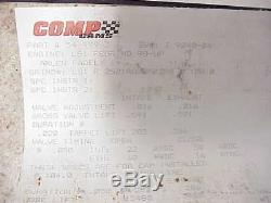 NEW Comp Cams Billet Solid Roller Camshaft 55mm for LS1 SB Chevy. 591 Lift
